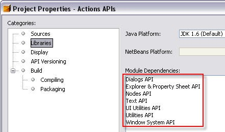 Module-module dependencies of a given module in the sources' Project Properties window